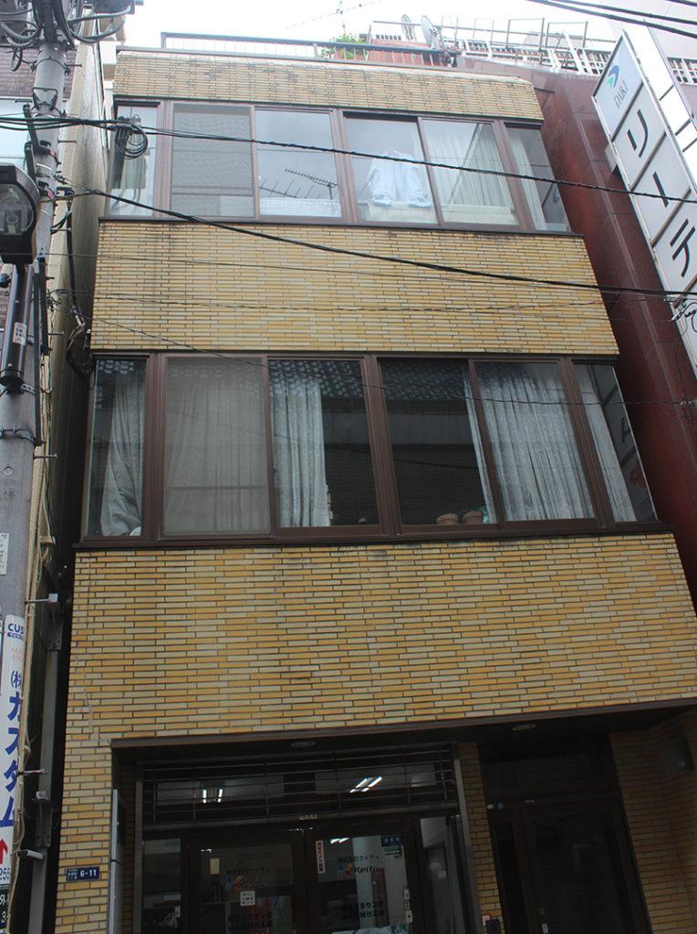 Le bâtiment où le labo est censé se trouver.